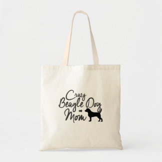 Tote Bag Maman folle de chien de beagle