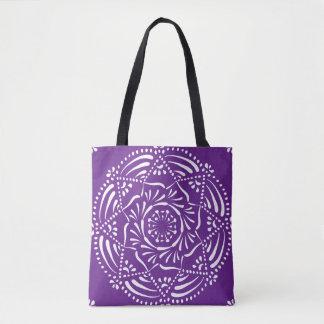 Tote Bag Mandala d'aubergine
