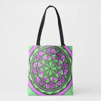 Tote Bag Mandala d'indigo