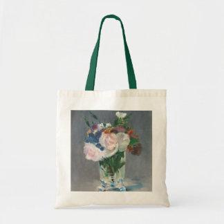 Tote Bag Manet | fleurit dans un vase en cristal, c.1882