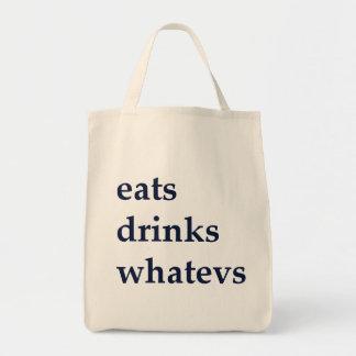 Tote Bag Mange des boissons Whatevs