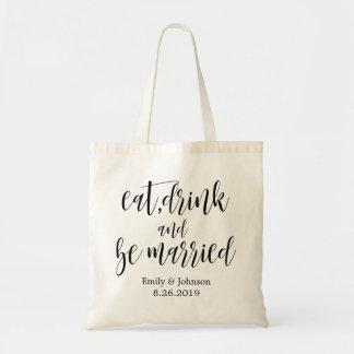 Tote Bag mangez, boisson et soyez le cadeau bienvenu de