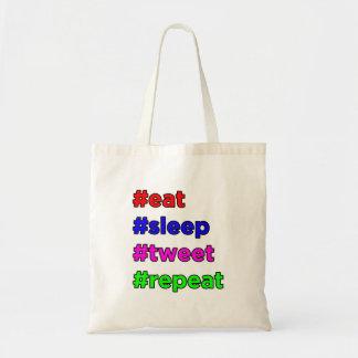 Tote Bag Mangez, dormez, gazouillez, répétez !