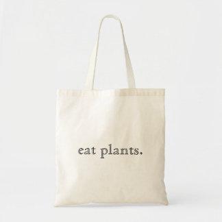 Tote Bag Mangez la conception minimale de plantes
