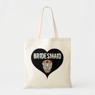 Tote Bag Mariage gothique noir et blanc avec la demoiselle
