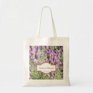 Tote Bag Mariage personnalisé par fleurs de lavande