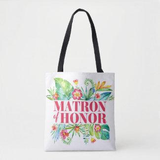 Tote Bag Mariage tropical de destination de dame de honneur