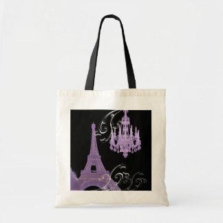 Tote Bag Mariage vintage de lustre de Tour Eiffel de Paris