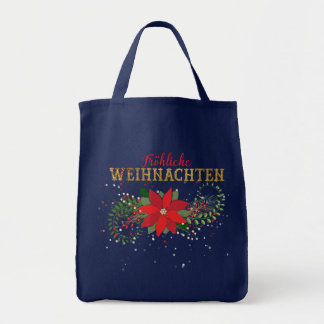 Tote Bag Marine bleue allemande de Joyeux Noël