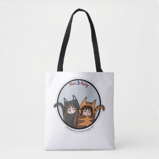 Tote Bag Maximum et Nelly - un beau couple des chats