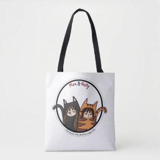 Tote Bag Maximum et Nelly - un beau couple des chats de