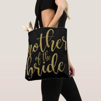 Tote Bag Mère de la calligraphie de parties scintillantes