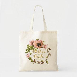Tote Bag Mère rose de guirlande de pivoine de la jeune