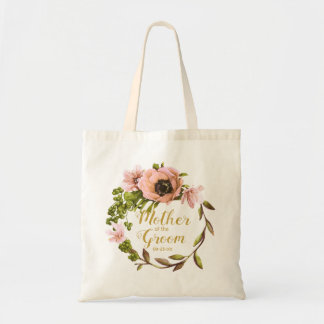 Tote Bag Mère rose de guirlande de pivoine du marié ID456