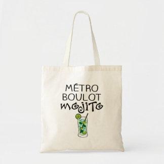 "Tote bag ""Métro Boulot Mojito"""