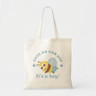 Tote Bag Mignon de même que peut abeille c'est un garçon