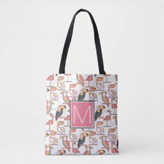 Tote Bag Modelez avec les oiseaux tropicaux que | ajoutent