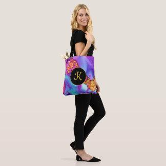 Tote Bag Monogramme abstrait artistique audacieux