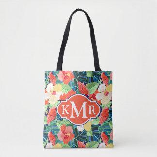Tote Bag Monogramme coloré du motif | de ketmie