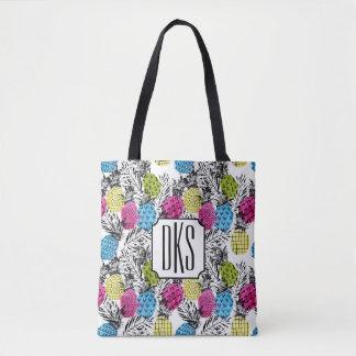 Tote Bag Monogramme d'ananas et de palmettes | d'art de