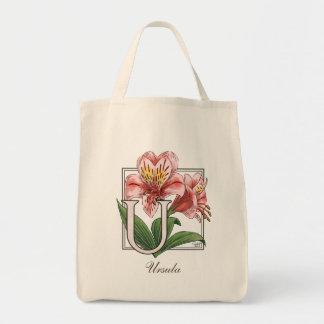Tote Bag Monogramme de fleur d'Ulster Mary