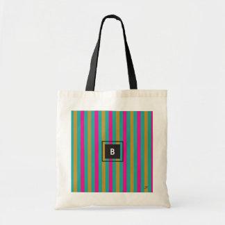 Tote Bag Monogramme de rayures