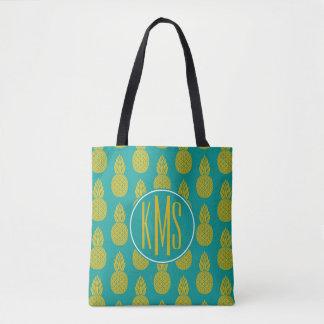 Tote Bag Monogramme du fruit tropical | d'ananas