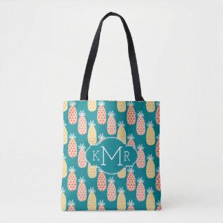 Tote Bag Monogramme du motif | de griffonnage d'ananas