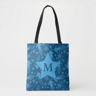 Tote Bag Monogramme du motif | de symbole de femme de