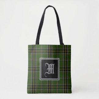 Tote Bag Monogramme irlandais de plaid