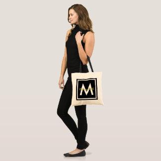 Tote Bag Monogramme noir personnalisé