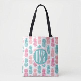 Tote Bag Monogramme vintage du motif | d'ananas