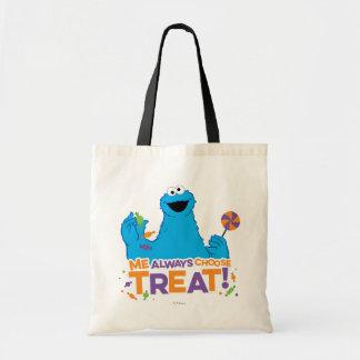 Tote Bag Monstre de biscuit - je choisit toujours le festin