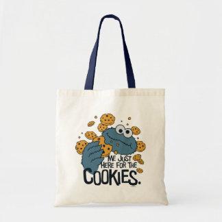 Tote Bag Monstre de biscuit | je juste ici pour les