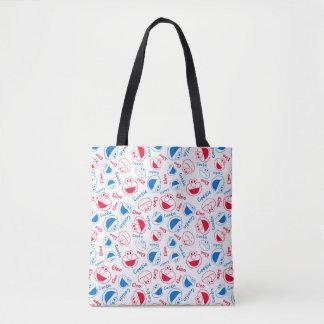Tote Bag Monstre et Elmo de biscuit motif rouge et bleu de