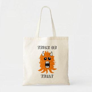 """Tote Bag Monstre orange Halloween Fourre-tout de """"des"""