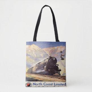 Tote Bag Montagne locomotive de chemin de fer de train du