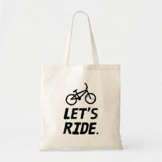 Tote Bag Montons l'humour de cycliste de ville et de