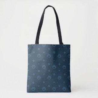 Tote Bag Motif bleu de monstre de biscuit et de marine de