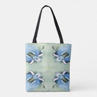 Tote Bag Motif chic artistique de Personalizable de vert