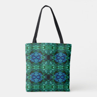Tote Bag Motif chic de bleu royal de vert vert