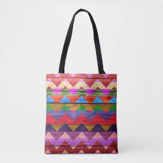 Tote Bag Motif coloré en bois moderne #12 de Chevron