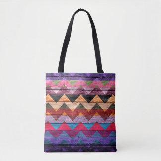 Tote Bag Motif coloré en bois moderne #21 de Chevron
