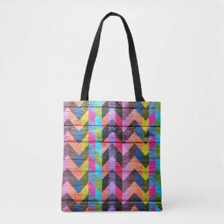 Tote Bag Motif coloré en bois moderne #28 de Chevron