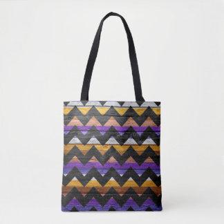 Tote Bag Motif coloré en bois moderne #30 de Chevron