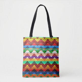 Tote Bag Motif coloré en bois moderne #42 de Chevron