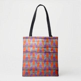Tote Bag Motif coloré en bois moderne #49 de Chevron