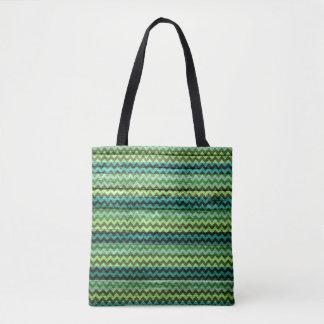 Tote Bag Motif coloré en bois moderne de Chevron