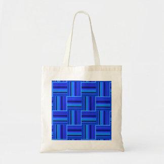 Tote Bag Motif d'armure de rayures bleues