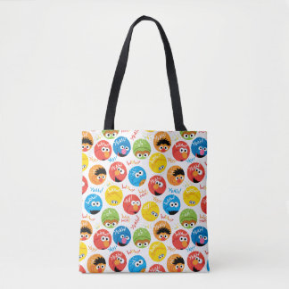 Tote Bag Motif de caractère de cercle de Sesame Street